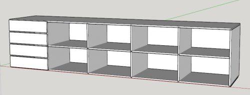 sketchup shelves