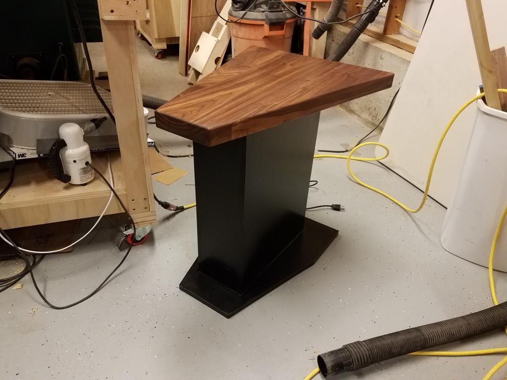 Wedge Shaped Side Table Studio711